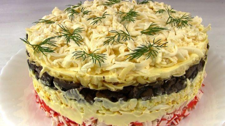 Вкусный крабовый салат «Званый ужин»