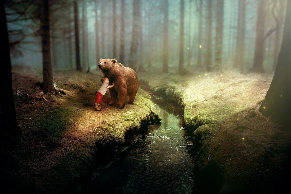 Смешной рассказ о волке, зайце и медведе